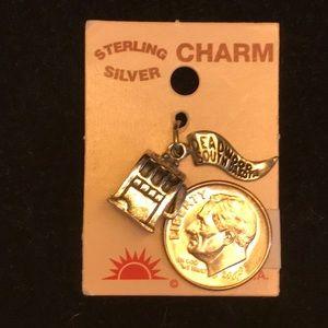 Deadwood. One armed bandit; Sterling silver charm